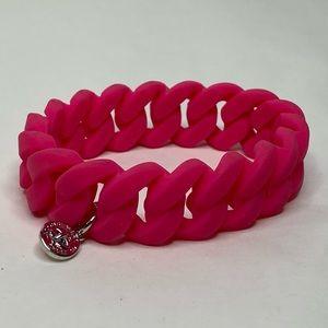Marc Jacobs Hot Pink Stretch Bangle Bracelet